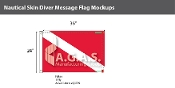Skin Diver Deluxe Flags 24x36 inch