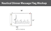 Dinner Deluxe Flags 12x18 inch