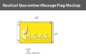 Quarantine Deluxe Flags 10x15 inch