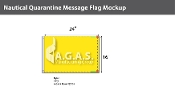 Quarantine Deluxe Flags 16x24 inch