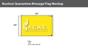 Quarantine Deluxe Flags 24x36 inch