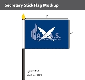 Secretary Stick Flags 4x6 inch