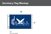 Secretary Flags 12x18 inch