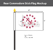 Rear Commodore Stick Flags 4x6 inch