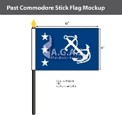 Past Commodore Stick Flags 4x6 inch