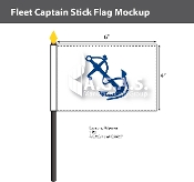 Fleet Captain Stick Flags 4x6 inch