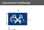 Quartermaster Flags 12x18 inch