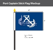 Port Captain Stick Flags 4x6 inch