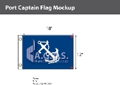 Port Captain Flags 12x18 inch