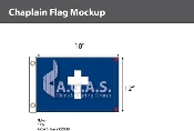 Chaplain Deluxe Flags 12x18 inch