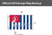 USPS Yacht Ensign Deluxe Flags 12x18 inch