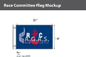Race Commitee Deluxe Flags 16x24 inch