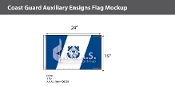 Coast Guard Auxiliary Ensign Flags 15x24 inch