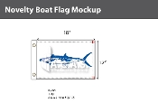 King Mackerel Flags 12x18 inch