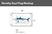 Mako Shark Flags 12x18 inch