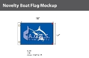 White Marlin Flags 12x18 inch