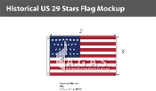 Historical US 29 Stars Flags 3x5 foot