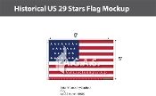 Historical US 29 Stars Flags 5x8 foot