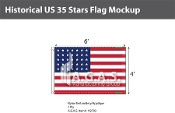 Historical US 35 Stars Flags 4x6 foot