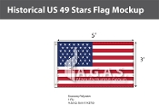 Historical US 49 Stars Flags 3x5 foot