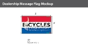 Bicycles Flags 3x5 foot (Red, White & Blue)
