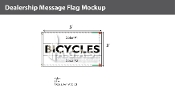 Bicycles Flags 3x5 foot (Choose Colors)