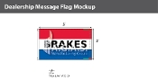 Brakes Flags 3x5 foot (Red, White & Blue)