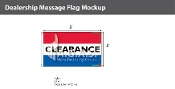 Clearance Flags 3x5 foot (Red, White & Blue)