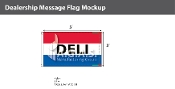 Deli Flags 3x5 foot (Red, White & Blue)