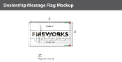 Fireworks Flags 3x5 foot (Choose Colors)