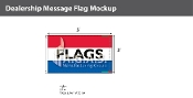 Flags Flags 3x5 foot (Red, White & Blue)