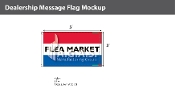 Flea Market Flags 3x5 foot (Red, White & Blue)