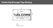 Welcome Flags 3x5 foot (Choose Colors)