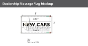 New Cars Flags 3x5 foot (Choose Colors)