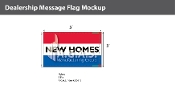 New Homes Flags 3x5 foot (Red, White & Blue)