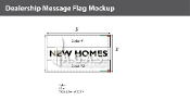 New Homes Flags 3x5 foot (Choose Colors)