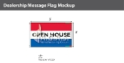Open House Flags 3x5 foot (Red, White & Blue)