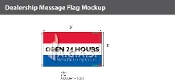 Open 24 Hours Flags 3x5 foot (Red, White & Blue)