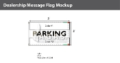 Parking Flags 3x5 foot (Choose Colors)
