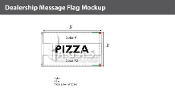 Pizza Flags 3x5 foot (Choose Colors)