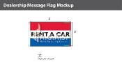 Rent A Car Flags 3x5 foot (Red, White & Blue)