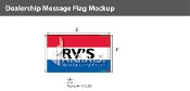 RV's Flags 3x5 foot (Red, White & Blue)