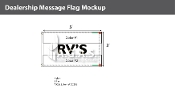 RV's Flags 3x5 foot (Choose Colors)