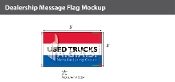 Used Trucks Flags 3x5 foot (Red, White & Blue)