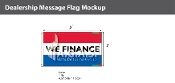 We Finance Flags 3x5 foot (Red, White & Blue)