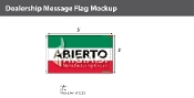 Abierto Flags 3x5 foot (Green, White & Red)