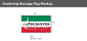 Autos Nuevos Flags 3x5 foot (Green, White & Red)