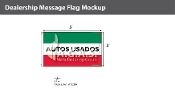 Autos Usados Flags 3x5 foot (Green, White & Red)