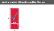 Now Leasing Flags 8x2.5 foot