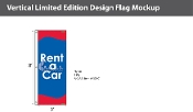 Rent a Car Flags 8x2.5 foot